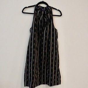 Madewell black and white tank dress